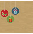 christmas party hanging tags vector image vector image