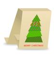 christmas tree 3 vector image vector image