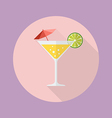 Cocktail drink flat icon vector image vector image