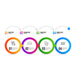 cogwheel time management and mini pc icons set vector image vector image