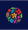 color flower shapes as a circle vector image vector image