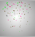 colorful confetti festive falling shiny vector image vector image