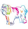 colorful decorative standing portrait of tibetan vector image vector image