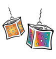 Colorful lanterns vector image vector image