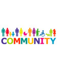 community concept with colored people pictograms vector image