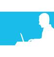 Computer Man vector image vector image