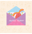 Concept Happy Easter envelope with flowersbunny vector image vector image