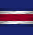 costa rica flag flag of costa rica blowig in the vector image