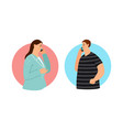 couple talking on phone vector image