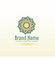 creative flower style logo concept design vector image vector image