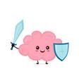 cute strong happy smiling healthy brain vector image vector image
