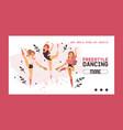 dancer web page ballerina woman character vector image vector image