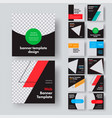design square black web banners with place for vector image