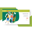 family health pediatric clinic landing web page vector image