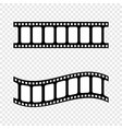filmstripe black and white isolated on vector image vector image