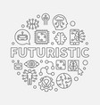 futuristic round concept in vector image
