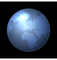 globe icon with light map continents vector image vector image