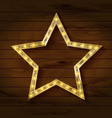 gold star on wooden background vector image vector image