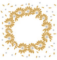 golden round frame for romantic decoration design vector image