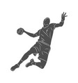 handball player abstract vector image vector image