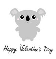 happy valentines day koala bear toy icon cute vector image