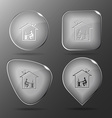Home work Glass buttons vector image