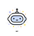 icon cute virtual robot artificial intelligence vector image vector image