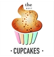 isolated cupcake on white background EPS 10 card vector image vector image