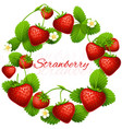 juicy strawberry frame wreath health vector image