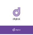 letter d elegant logo and monogram vector image