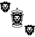Lion heads vector image vector image