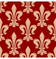 Maroon and beige floral seamless pattern vector image vector image
