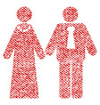 newlyweds fabric textured icon vector image vector image