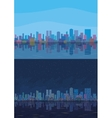 Night and day city landscape vector image vector image