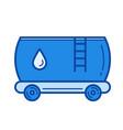 oil tank line icon vector image
