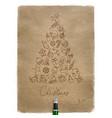 Pen line drawing christmas tree craft