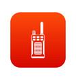 portable handheld radio icon digital red vector image vector image