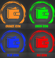 Purse icon Fashionable modern style In the orange vector image vector image