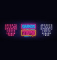 quick tips neon sign design template quick vector image vector image