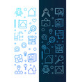 real estate vertical banners set in thin vector image vector image
