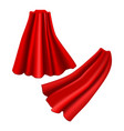 realistic detailed 3d red cloaks costume superhero vector image