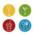 restaurant icons set design vector image vector image