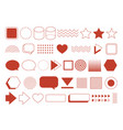 retro design element geometric shapes set vintage vector image