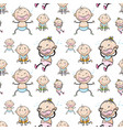 seamless background with babies vector image
