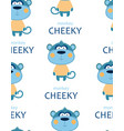 seamless pattern with cheeky monkey vector image vector image