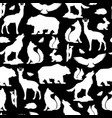seamless pattern with woodland forest animals and vector image vector image
