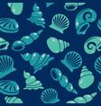 Seamless sea shells pattern