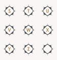 set emblem s vector image vector image