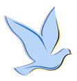 Soaring dove logo vector image vector image