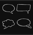 speech bubbles hand drawn sketch on black vector image vector image